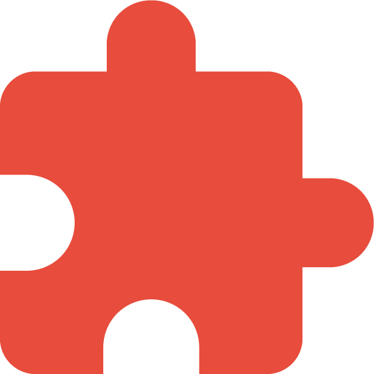 red puzzle piece illustration