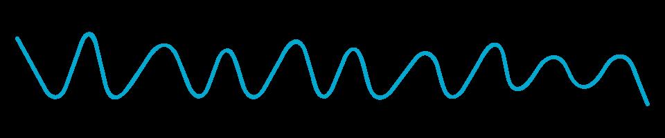 sound waves illustration blue