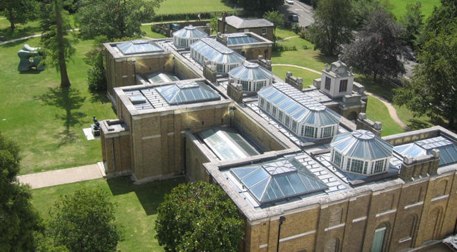 overhead shot of Dulwich large building