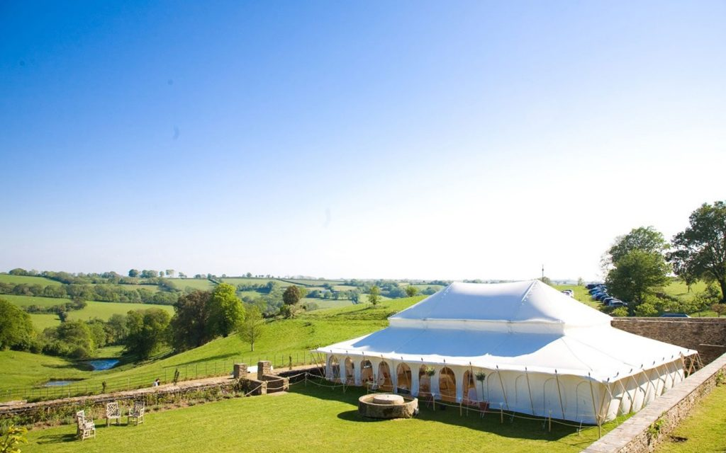 overhead shot of marquee at Shilstone House