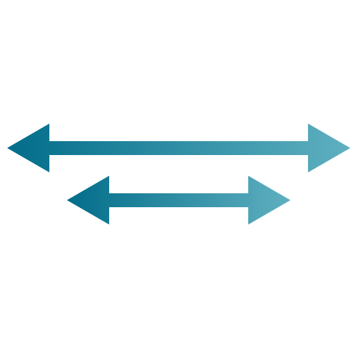 two double ended blue arrows illustration