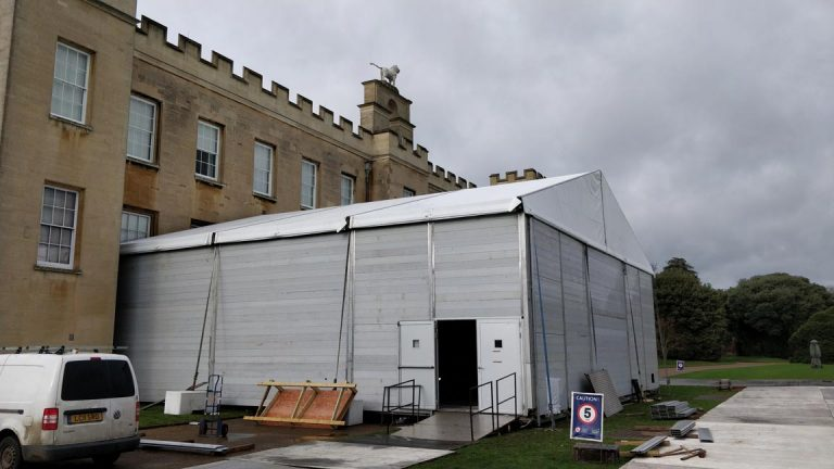 external shot of soundproof marquee