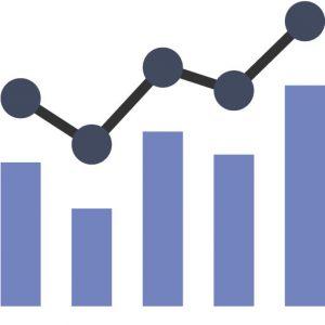 graph illustration blue