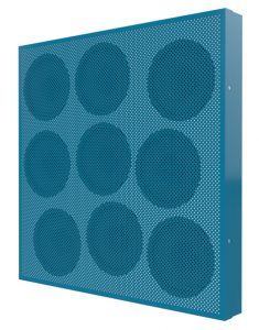 graphic of zone array panel blue