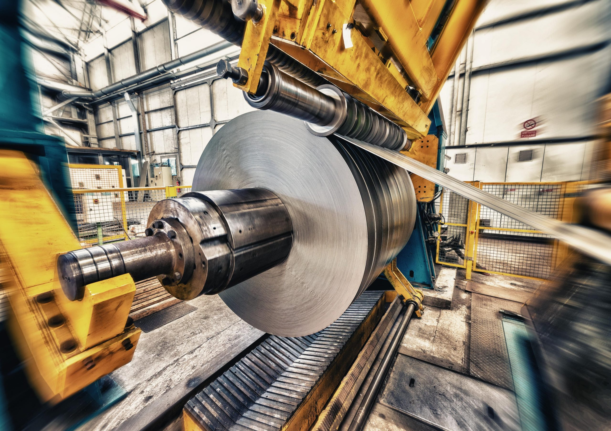 machinery in factory rollers